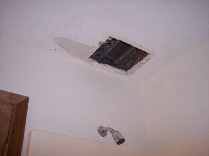 Picture Of Bathroom Ceiling Repaired By Waddill Services